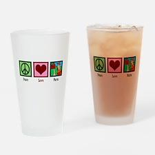 Peace Love Farm Drinking Glass