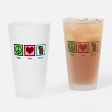 Peace Love Beavers Drinking Glass