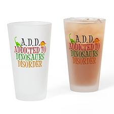 Funny Dinosaur Drinking Glass