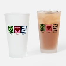 Peace Love Aquarius Drinking Glass