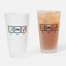 Eat Sleep Act Drinking Glass