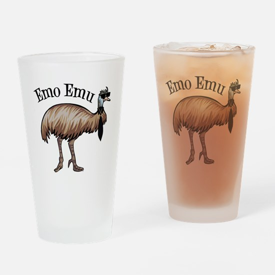 Emo Emu Drinking Glass