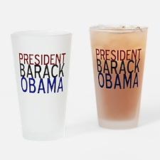 President Obama Drinking Glass