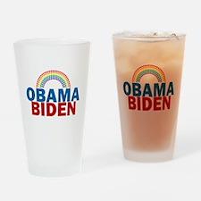 Obama Rainbow Drinking Glass