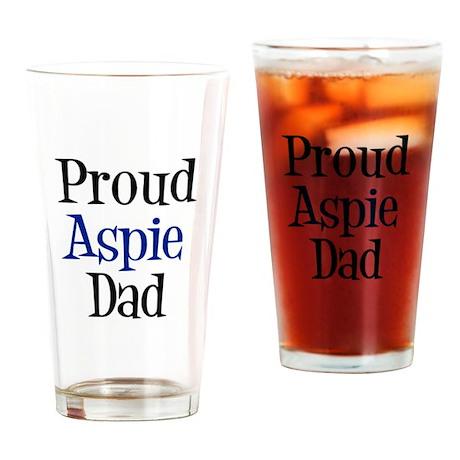 Proud Aspie Dad Drinking Glass