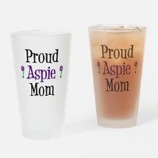 Proud Aspie Mom Drinking Glass