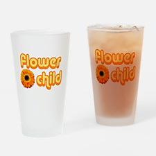 Flower Child Drinking Glass