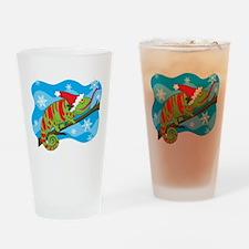 Christmas Chameleon Pint Glass