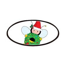 Bee Christmas Patches