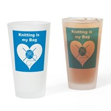 Knitting is MY Bag Pint Glass