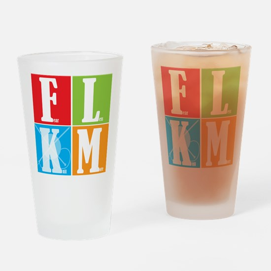 Fear Less KNIT More! Pint Glass