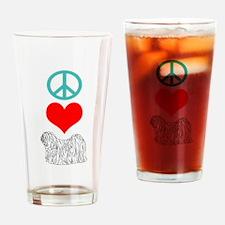 Peace Love Puli Pint Glass