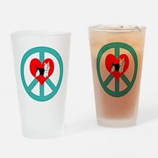 Peace Love Yorkie Pint Glass