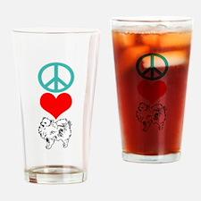 Peace Love Pomeranian Pint Glass