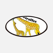 I Love Giraffes Patches