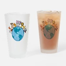 Peace on Earth Animals Pint Glass