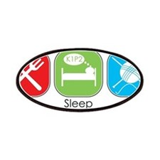 Eat Sleep Knit Patches