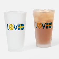 Love Peace Sweden Pint Glass