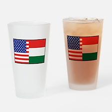 USA/Hungary Pint Glass