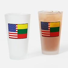 USA/Lithuania Pint Glass