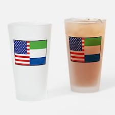 USA/Sierra Leone Pint Glass
