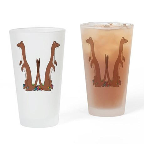 Animal Alphabet Weasel Pint Glass