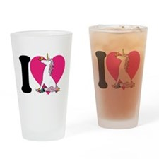 I Love Unicorns Pint Glass