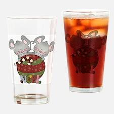 Christmas Mice Noel Pint Glass
