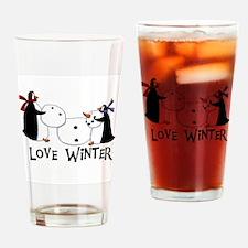 Penguins Love Winter Pint Glass