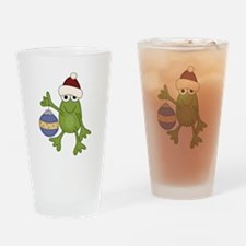 Santa Frog Pint Glass