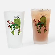 Froggy Christmas Pint Glass