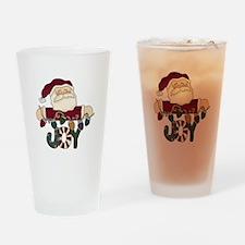 Santa Joy Pint Glass