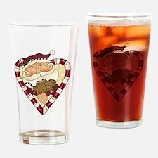 Candy Cane Santa Pint Glass