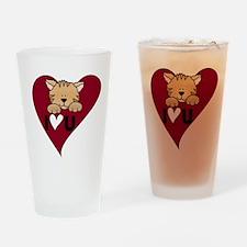 Kitten I Love U Pint Glass