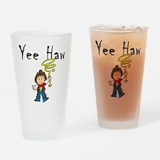 Yee Haw Cowboy Pint Glass