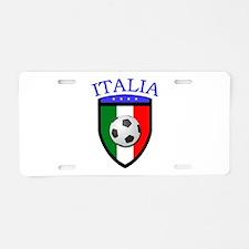 Italia Soccer (2) Aluminum License Plate