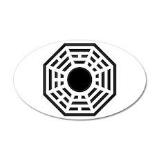 Dharma Octagon Symbol 22x14 Oval Wall Peel