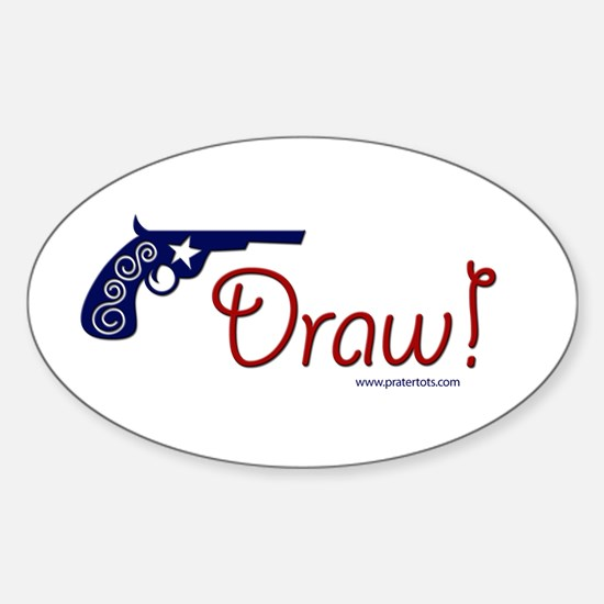 Draw! Oval Decal