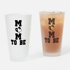Hearts Mom to Be Pint Glass
