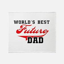 World's Best Future Dad Throw Blanket
