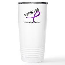 Fight Like A Girl Fibromyalgia Travel Mug