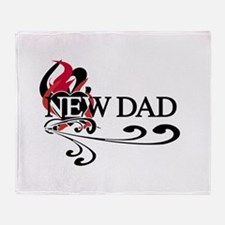 Heart New Dad Throw Blanket