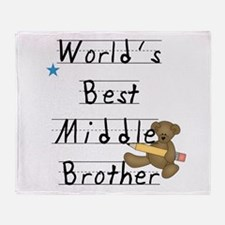 Best Middle Brother Throw Blanket