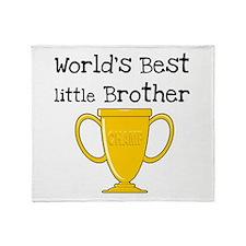 World's Best Little Brother Throw Blanket