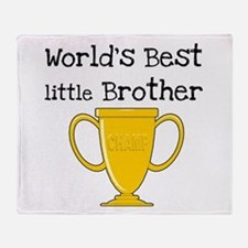 World's Best Little Brother Throw Blanket
