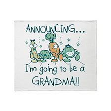Veggies Future Grandma Throw Blanket