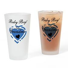 Baby Boy New Grandma Pint Glass
