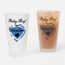 Baby Boy New Grandma Pint Glass