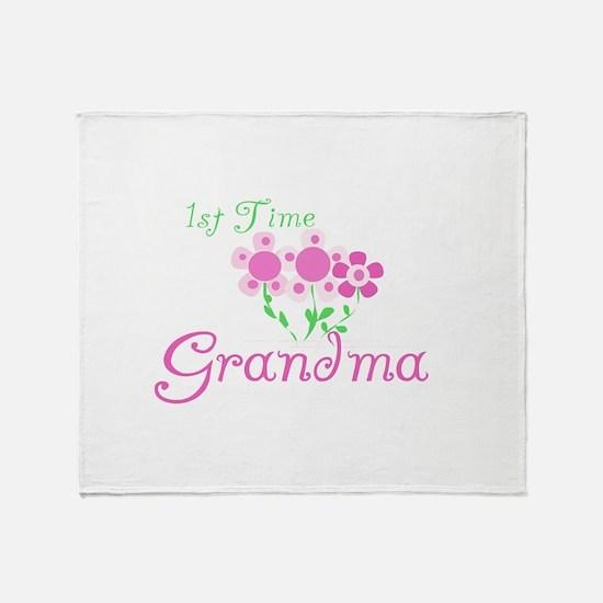 1st Time Grandma Throw Blanket