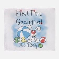 Grandma Baby Boy Throw Blanket
